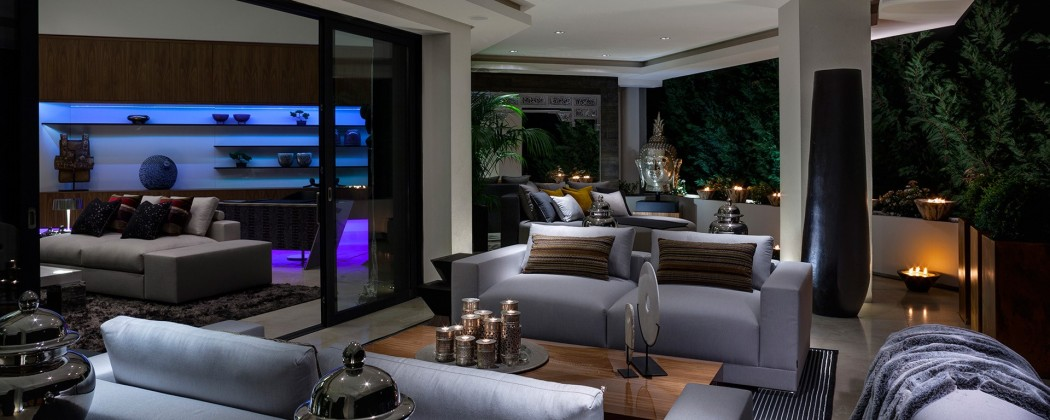 evening terrace and lounge